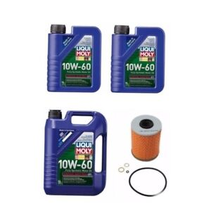 7 Liter 10w60 Synthetic Liqui Moly Engine Motor Oil 1 Op Filter Kit For Bmw