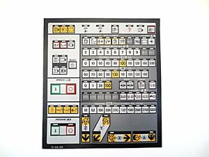 Cnc Machine Keypad Replacement Membrane overlay 11 04 00 Nos
