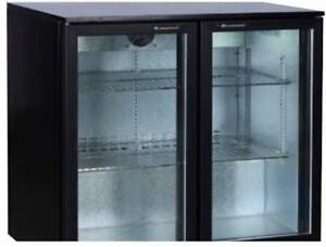 Alamo 7 3cf 2 door Glass Door Commercial Back Bar Cooler Refrigerator Bbd230 New