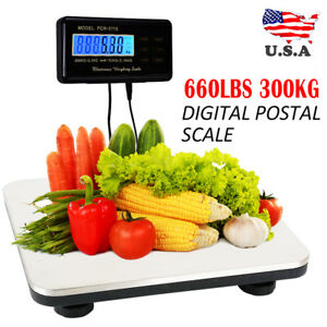 New 660 Lbs X 0 1 Lb Digital Floor Bench Platform Postal Scale Kg lb oz 300kg