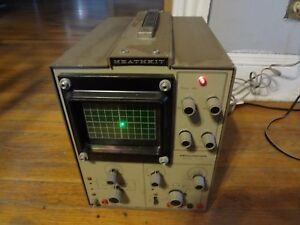 Heathkit 10 102 Oscilloscope Powers On