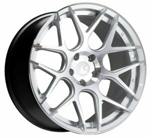 One 19x9 5 Aodhan Ls002 5x120 35 Silver Machined Face Wheel