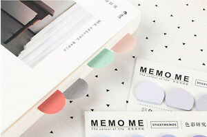5 Color 150 page Bookmark Sticky Notes Sticker Marker Memo Flags Pastel