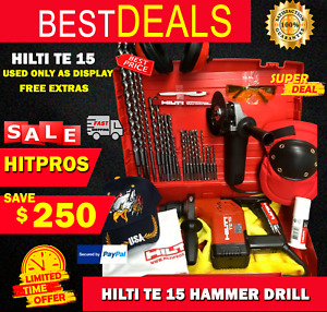 Hilti Te 15 Hammer Drill Used Only As Display Made In Germany Free Extras