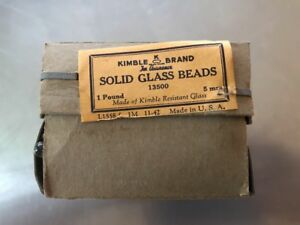 Kimble Brand 5mm 1lb Solid Glass Beads For Distillation Columns New