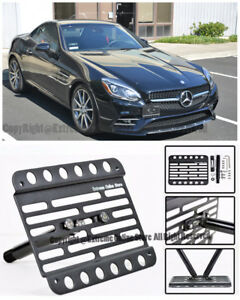 Eos Front Bumper Tow Hook License Plate Bracket For 17 up Mercedes Benz Slc