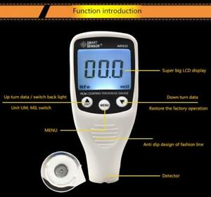 Car Paint Film Thickness Meter 0 1500um Ultrasonic Coating Thickness Gauge