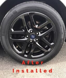 2013 2016 Ford Fusion 17 Black Wheel Skins Hubcaps Covers Alloy Wheels Set