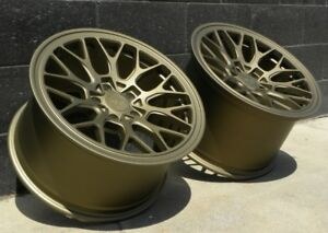18x8 5 18x11 Esm Ff1 Flow Form Wheel Bronze Porsche 996 Turbo C4s Gt3 Wide 5x130