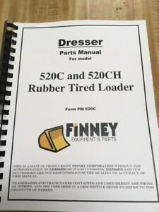 Dresser Ih 520c 520ch Wheel Loader Chassis Parts Manual Catalog Book Pm520c New