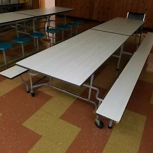 Used School Cafeteria Furniture Mobile Cafeteria Table