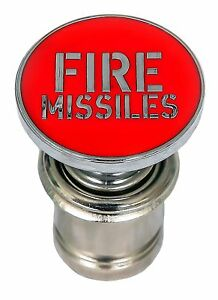 Universal Red Fire Missiles Push Button Car Cigarette Lighter 12 volt Accessory