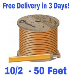 10 2 W ground Romex Indoor Electrical Wire 50 Feet all Lengths Available