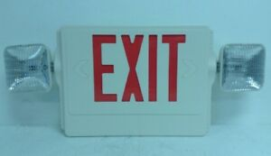 New Led Exit Sign With Emergency Lights Red Lettering