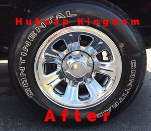 2000 2011 Ford Ranger 15 7 spoke Steel Wheel Chrome Skins Hubcaps Covers Set