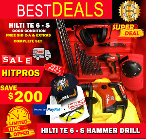 Hilti Te 6 s Preowned Free Sid 2 a Extras Made In Germany Fast Ship