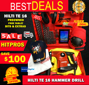 Hilti Te 16 Hammer Drill Preowned Germany Free Tablet Bits Extra Fast Ship