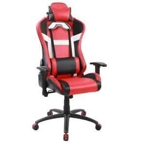 Red White Racing Gaming Chair High Back Computer Recliner Office Chair New