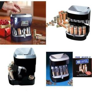 Profesional Coin Wrapper Sorter Desk Counter Bank Tool Coins Change Machine Home