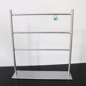 Earring Ladder Jewelry Stand Display Metallic Silver Tradeshow Display