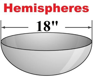 18 Hemispheres Clear Acrylic Dome One Piece Hand Blown Molded Sheet Fabrication