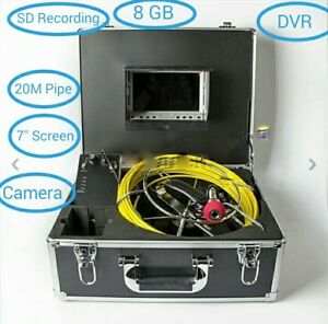Sewer Drain Pipe Waterproof Inspection Camera 7 Lcd Display 20m Cable Dvr Sd