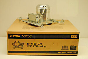 Case Of 6 Nora Nhic 501qat 5 Ic Air tight Can For Recessed Lighting New Work