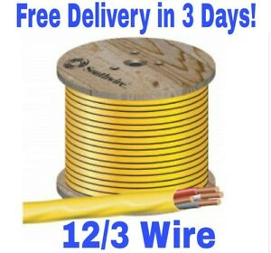 12 3 W ground Romex Indoor Electrical Wire 75 Feet all Lengths Available
