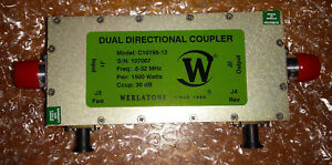 Werlatone C10195 12 Dual Directional Coupler 30db 0 5 To 32mhz 1500w