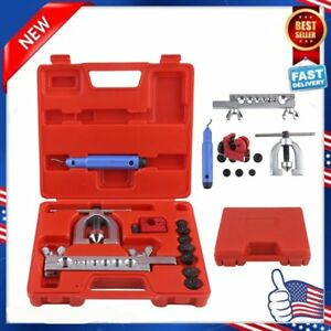 Double Flaring Brake Line Tool Kit Tubing Car Truck Tool With Mini Pipe Cutter B