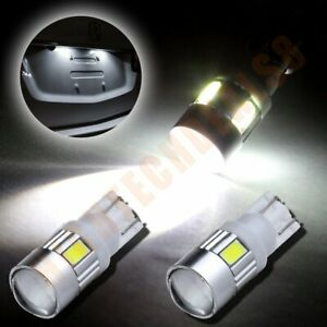 2x Cree High Power 921 168 T10 T15 Led License White Light Projector Bulb 6000k