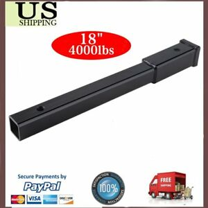 4000 Lb 18 Hitch Extension 2 Receiver Tube 5 8 Pin Hole Towing Extender Us Bp