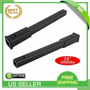 18 Hitch Extension Receiver 2 Extender 5 8 Pin Hole 4000 Lbs Tow Capacity Bp