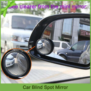 2pcs Auto Car Rear View Mirror Adjustable Side Rearview Blind Spot Wide Angle