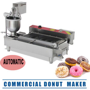 Commercial Electric Automatic Doughnut Donut Machine Donut Maker W 3 Size Usa
