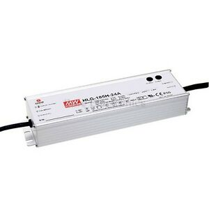 Mean Well Hlg 185h 24a 24v 7 8a Led Driver Waterproof Dimmable Outdoor