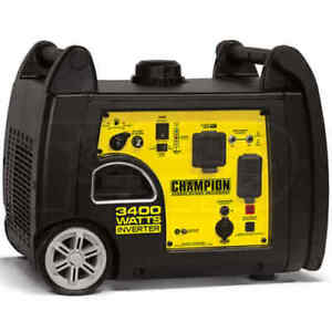New Champion 3400 Watt Gas Portable Gasoline Generator Inverter Super Quiet