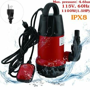 Submersible Sump Pump 1 5hp 3700gph W 25ft Cord Water Sub Pump Empty Pool Pond B