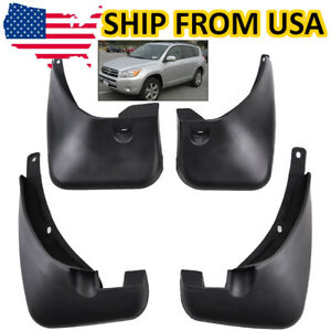 Fitfor Toyota Rav4 2006 2012 No Flares Guards Protector Mud Flaps Front And Rear