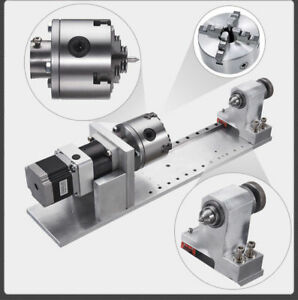 Cnc 5th Axis 1 10 Planetary Gearbox 4jaw 80mm Chuck Rotary Axis Router Rotation