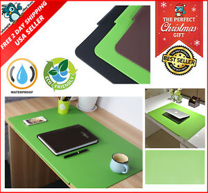Lohome Desk Pad 27 5 X 17 7 Large Size Rectangular Leather Laptop Desk Mat Green