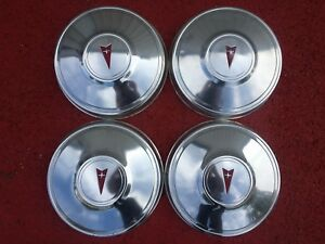 1980 S Pontiac Dog Dish Poverty Hubcap 10 1 2 Inch Set Of 4 Hub Cap Center Piece