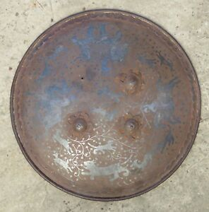 Antique Metal Shield Or Dhal From India