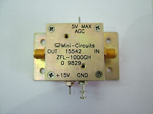 10mhz 1 2ghz Broadband Rf Amplifier With Agc Zfl 1000gh