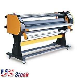 Us 67 Full auto Wide Format Hot Cold Laminator With Stand Single Side