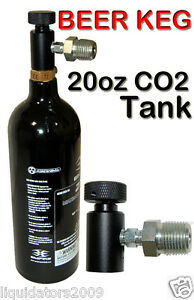 Portable 20oz Co2 Tank With Cga 320 Adapter For Draft Beer Kegerator Homebrew