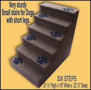 Six Steps For Dogs With Short Legs 21 1 2 High X 15 Wide X 22 1 2 Deep