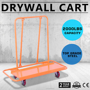 2000lbs Drywall Cart Dolly Sheetrock Panel Metal Tool Service Handling Promotion