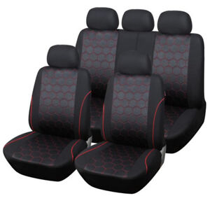 Hexagon Soccer Ball Style Car Seat Covers Fabric Universal Interior Accessories