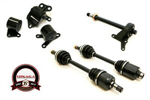 Yonaka Ek Honda Civic B16a B18c1 B18c5 Swap Axles Halfshaft Mounts Kit 250whp